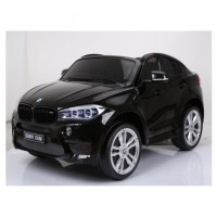 Электромобиль детский BMW X6M 45554  (Р) двухместный черный глянец