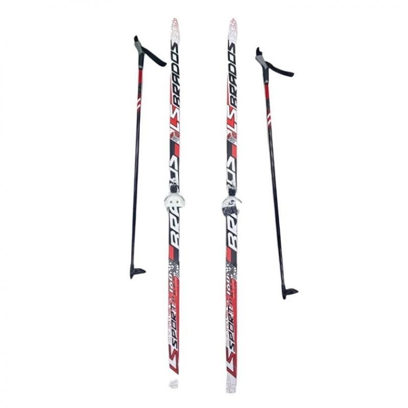 Лыжный комплект STC 75мм 160см (4)+палки+креп. STEP