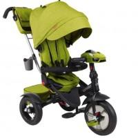 Детский 3-х колёсный велосипед Luxury TT зелёный 1/1 колеса надувные 12/10