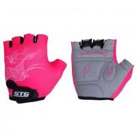 Перчатки X61872-C-10  летние быстросьёмные с защитной прокладкой, на лип. размер S, крас. черно-роз.
