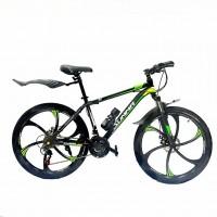 Велосипед  26  Лит. диски Summa-26/17 чёрно-зелёный