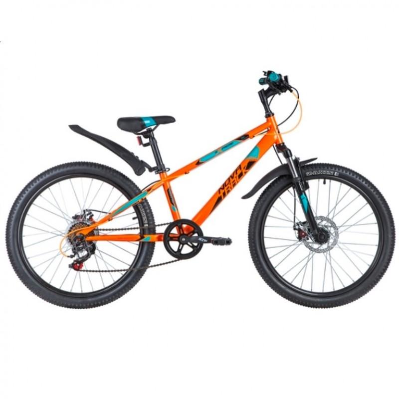 Велосипед 24 Novatrack SH6SD Extreme12OR21  оранжевый