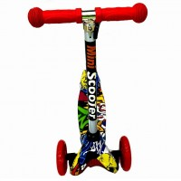 Детский самокат Scooter Mini print TJ702P Хип хоп жёлтый 1/6