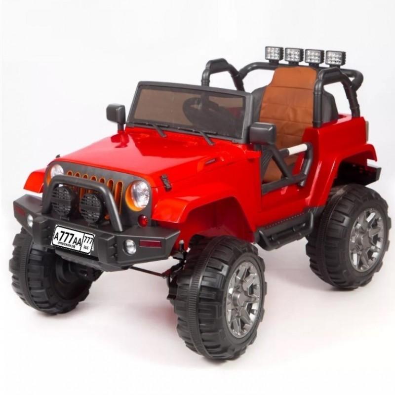 Электро мобиль детский Jeep 47081 (Р) красный полный привод