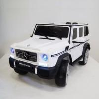 Электромобиль детский Mercedes-Benz G65AMG белый  12в р-у кож 131*70*