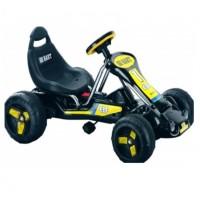 Педальная машина  ST00047-YE-BK черный надувные колеса 94*63*51см