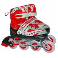Роликовые коньки Buyue In Line 38-41 Skate голуб,крас,роз