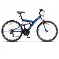 Велосипед 26  Stels Fokus V030  18ск. т.-синий/синий (2021)