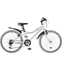 Велосипед 24 Novatrack SH6SV.Alice.10WT9   6ск белый