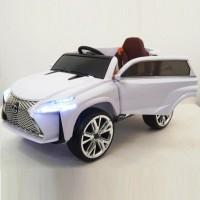 Детский электромобиль Lexus 40199 белый,кожанный салон,колеса резиновые 12в р-у открывается двери