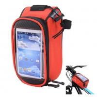 Велосумка X94985 Roswheel 12496S-CC5 на руль для телефона размер S красная