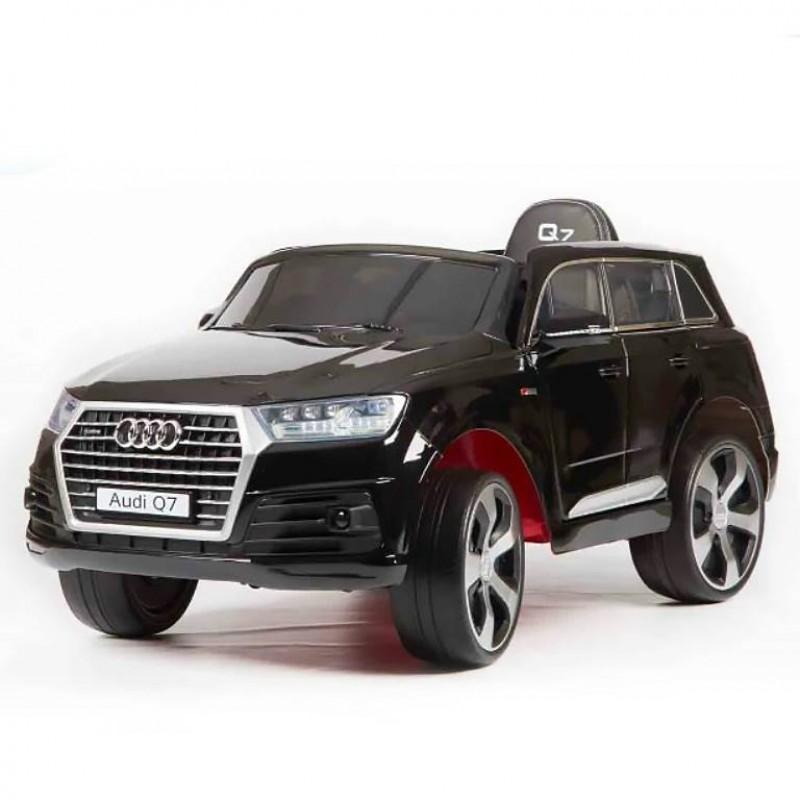 Электромобиль детский Audi Q7 Quattro LUX 45416 (Р) черный, глянцевый