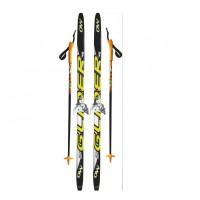Лыжный комплект STC 75мм 175см степ (4)+палки+креп.