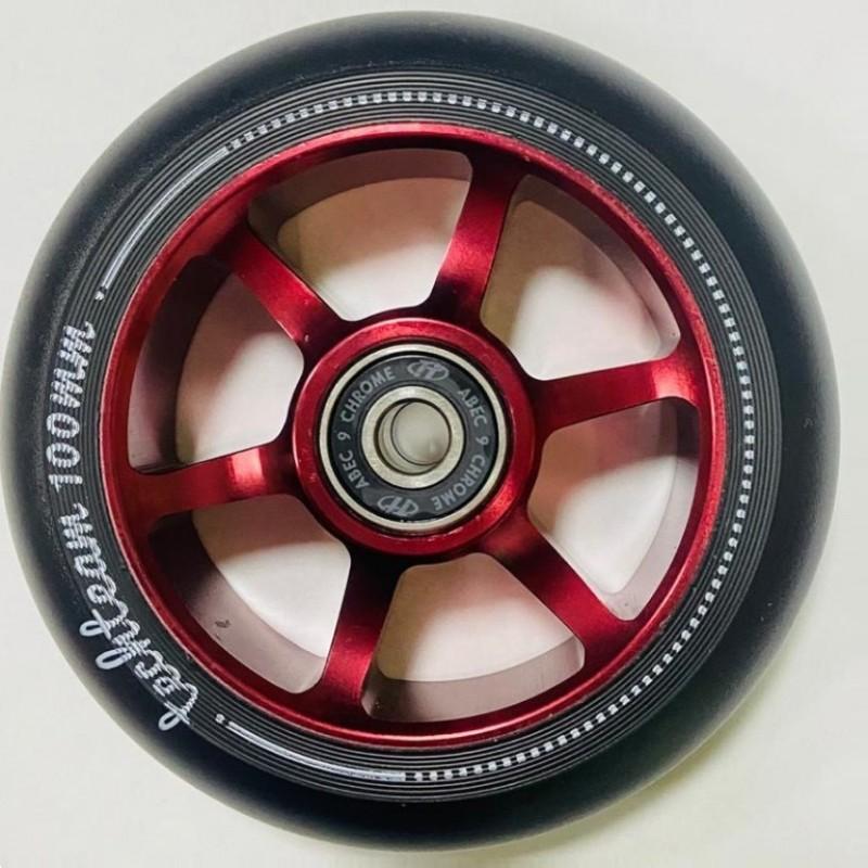Колесо 100мм X-Treme  для самоката,форма 6S красный