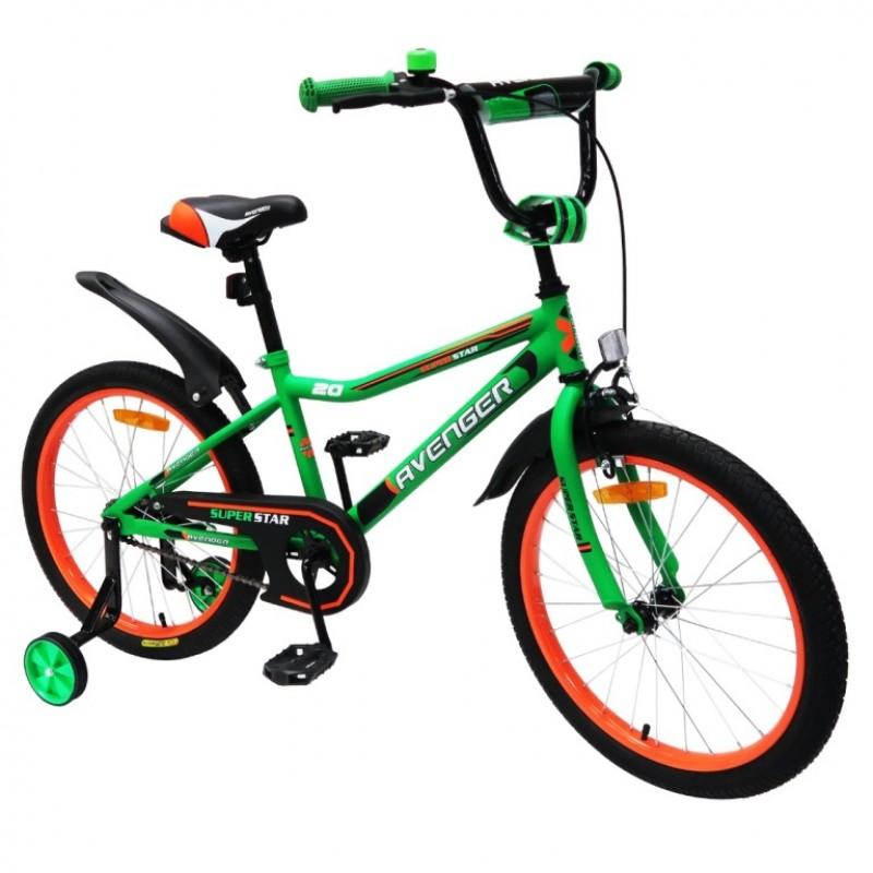 Велосипед 18  AVENGER SUPER STAR, зеленый/черный АКЦИЯ!!!