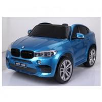 Электромобиль детский BMW X6M 45553 (Р) двухместный синий глянец