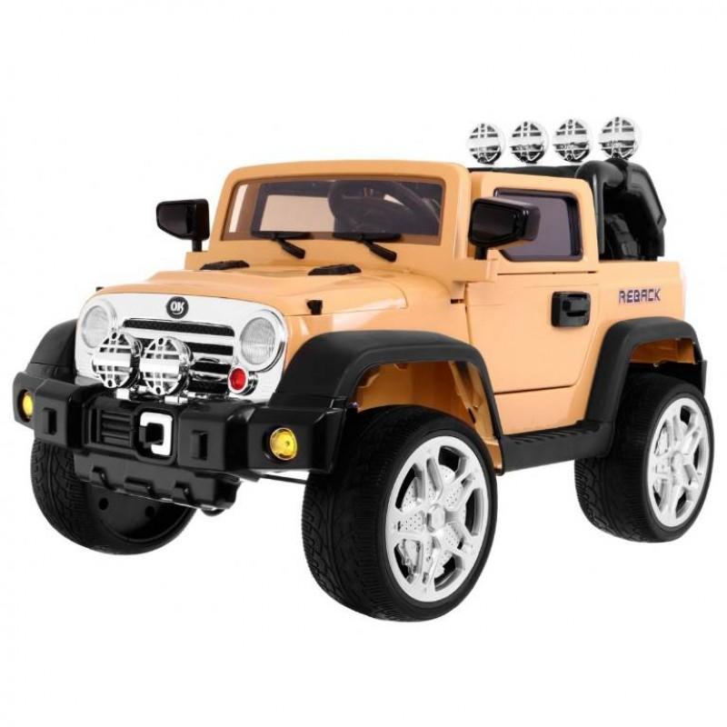 Электромобиль детский Jeep Wrangler 45452 (Р) бежевый, глянцевый