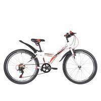 Велосипед 24 Novatrack SH6SV.RACER.10WT9   6ск белый