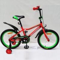 Велосипед 16  AVENGER SUPER STAR, красный/зеленый