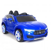 Детский электромобиль Maserati  синий глянец 50289, кож. сал. 12в р-у откр.дв кол.рез