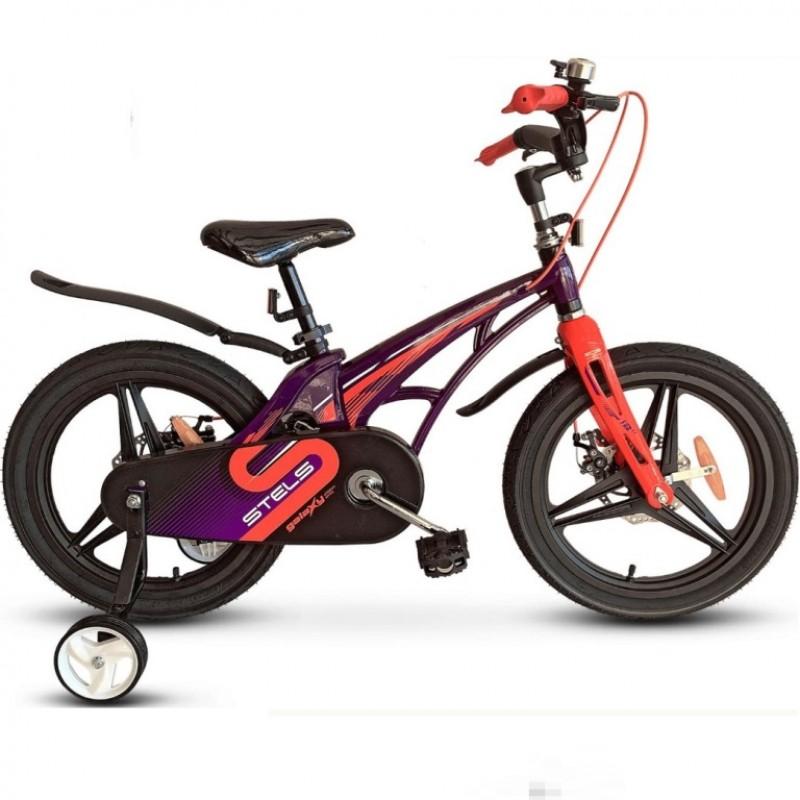 Велосипед 14  Stels  Galaxy Pro V010 фиолетовый/красный 2021