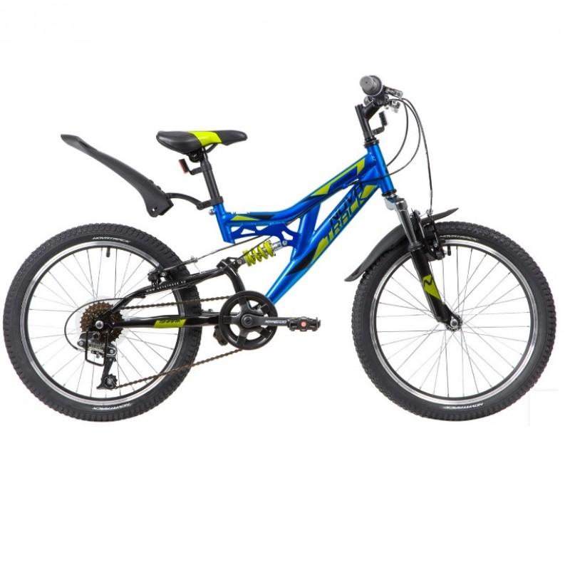 Велосипед 20 Novatrack SS6V Shark BL20 синий 6 скоростей