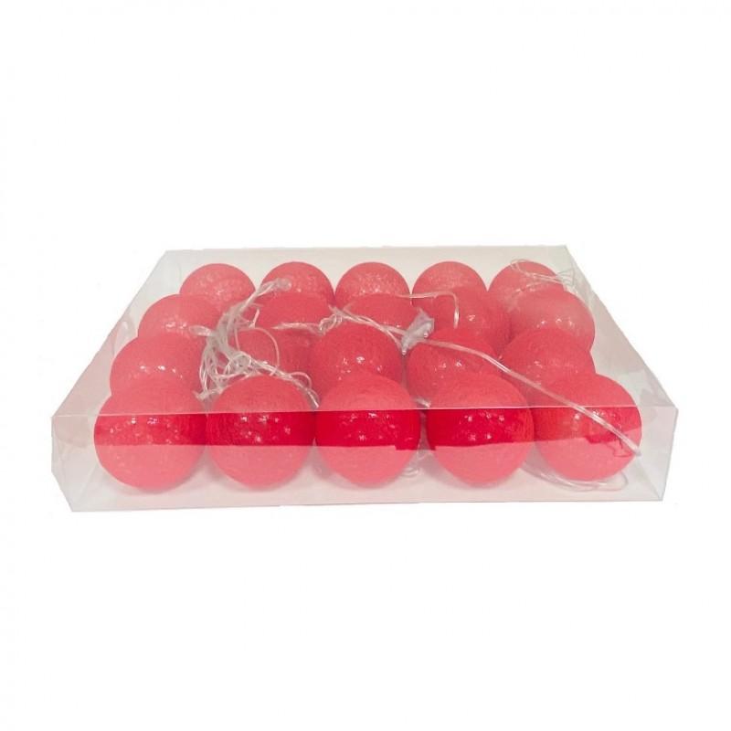 Гирлянда (набор шариков 20шт) красный