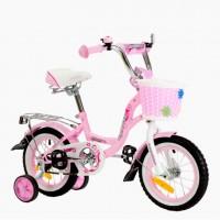 Велосипед 12 Nameless Lady, розовый/белый