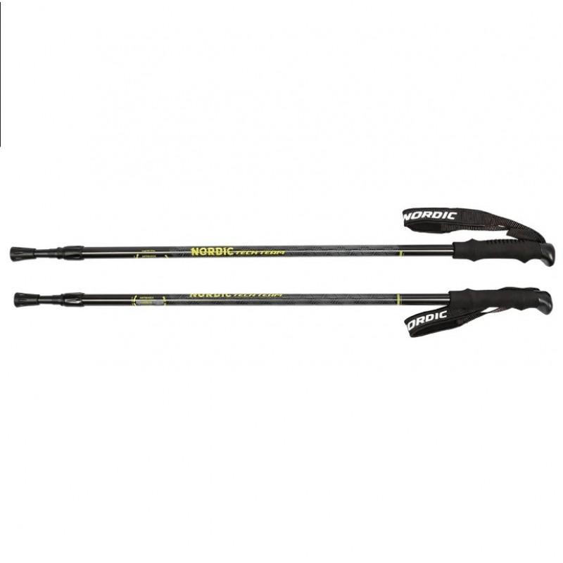 Палки  Nordic треккинговые 110-135см 2-х секционные,диаметр 18/16мм, ручка EVA.система antishock 1/30