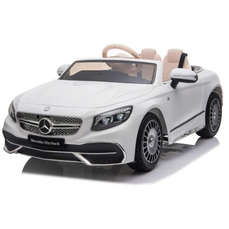 Электромобиль детский Mercedes-Maybach S650 Cabriolet ZB188,  50520 (Р) полный привод, белый