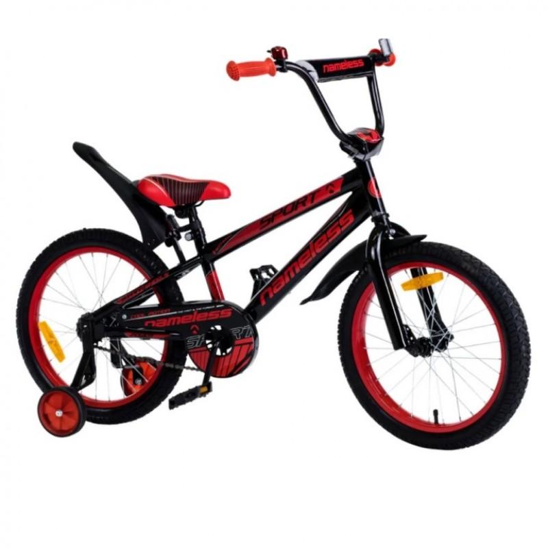 Велосипед 20 Nameless Sport, черный/красный