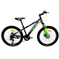 Велосипед 24 HYPE 24MD300-3 зелёный/чёрный матовый
