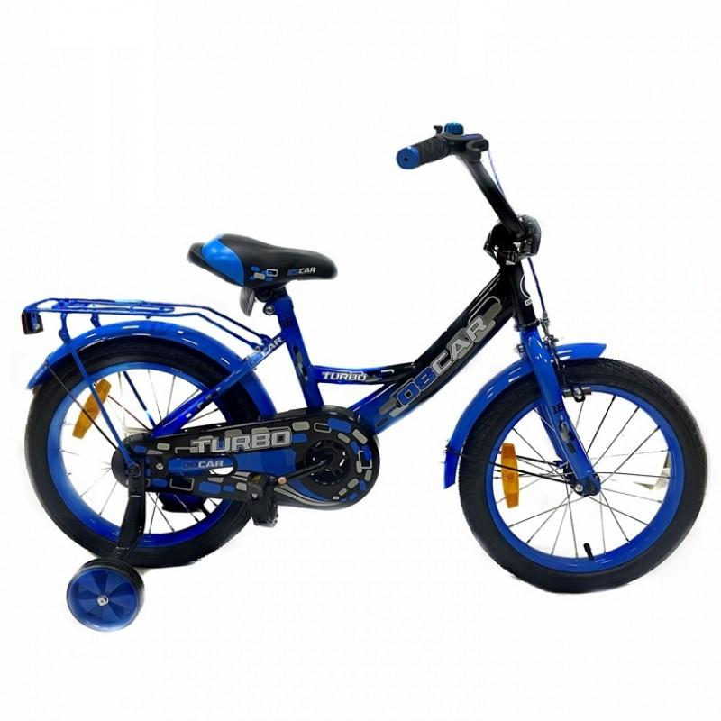 Велосипед 16 OSCAR TURBO Black-Blue (черный/синий) 2021
