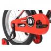 Велосипед 16 Novatrack Strike черный-красный, АКЦИЯ!!! тормоз нож, крылья корот, полная защита цепи