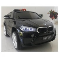 Электромобиль детский BMW X6M 45550 одноместный черный глянец