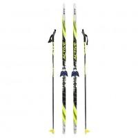 Лыжный комплект STC 75мм 185см (4)+палки+креп.