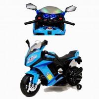 Электромотоцикл детский 38051 синий Колеса: каучук  99*41*65