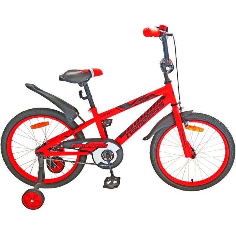 Велосипед 16 Nameless Sport, красный/черный