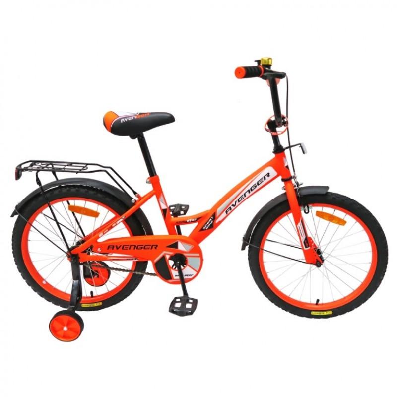 Велосипед 20  AVENGER NEW STAR, оранжевый /чёрный