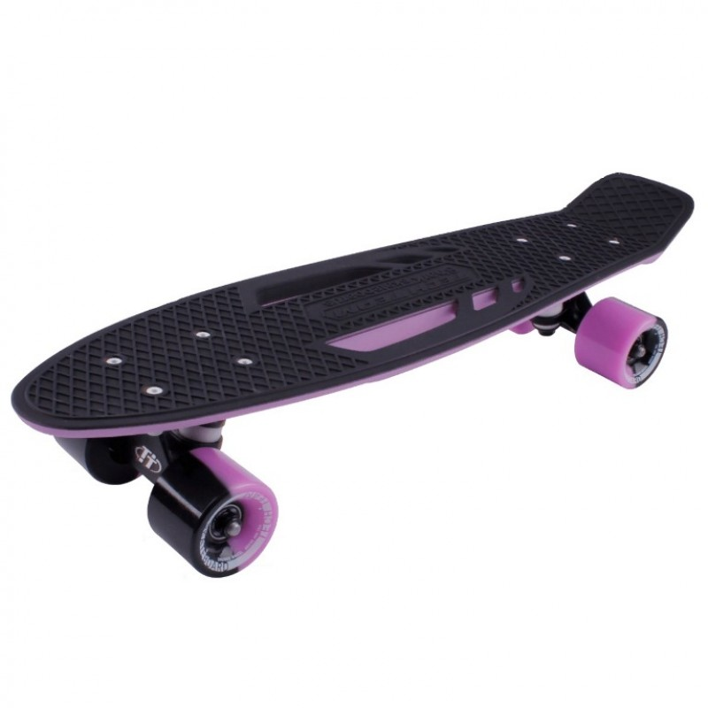 Скейтборд  ТТ  Shark 22  purple/black 1/4 TSL-405M пластик