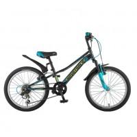 Велосипед 20 Novatrack SH6V.Valiant.BK9  чёр. 6-ск. нож/т