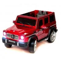 Детский электромобиль Mercedes-Benz G65AMG 40182 вишневый глянец 12в р-у кож 131*70*