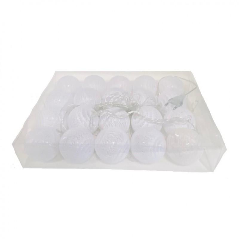 Гирлянда (набор шариков 20шт) белый