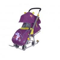 Санки коляска комбинированная Ника детям 7-6 заяц фиолетовый