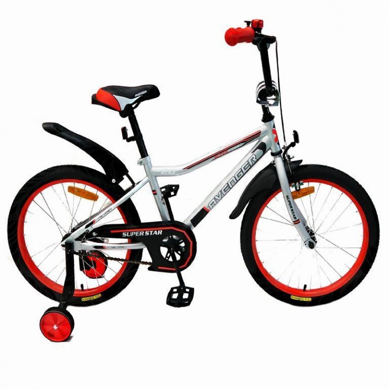 Велосипед 16  AVENGER SUPER STAR, серый/красный