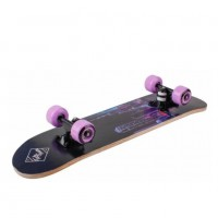 Скейтборд  ТТ  Profi 64*17см (12) цвет: желтый граффити колесо желтые №1