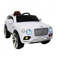 Электромобиль детский Bentley 41216 белый, кожанный салон 12в р-у откр.дв кол.рез