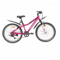 Велосипед 24 Nameless S4100W-PN/BK-13, розовый/чёрный