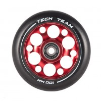 Колесо 100мм X-Treme  для самоката,форма Drilled красное
