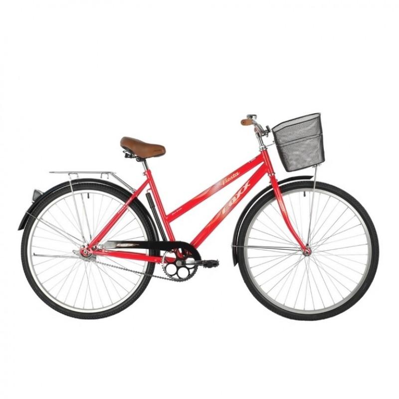 Велосипед 28 Foxx  SHC.FIESTA.20RD1 красный + корзина